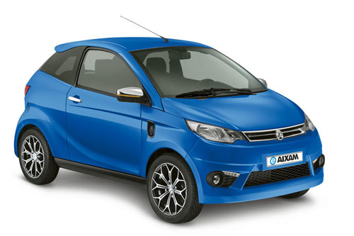 EAixam Elektro Coupe Premium in blau